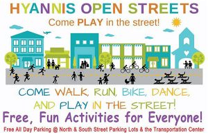 Image supporting playing in the streets during Hyannis Open Streets