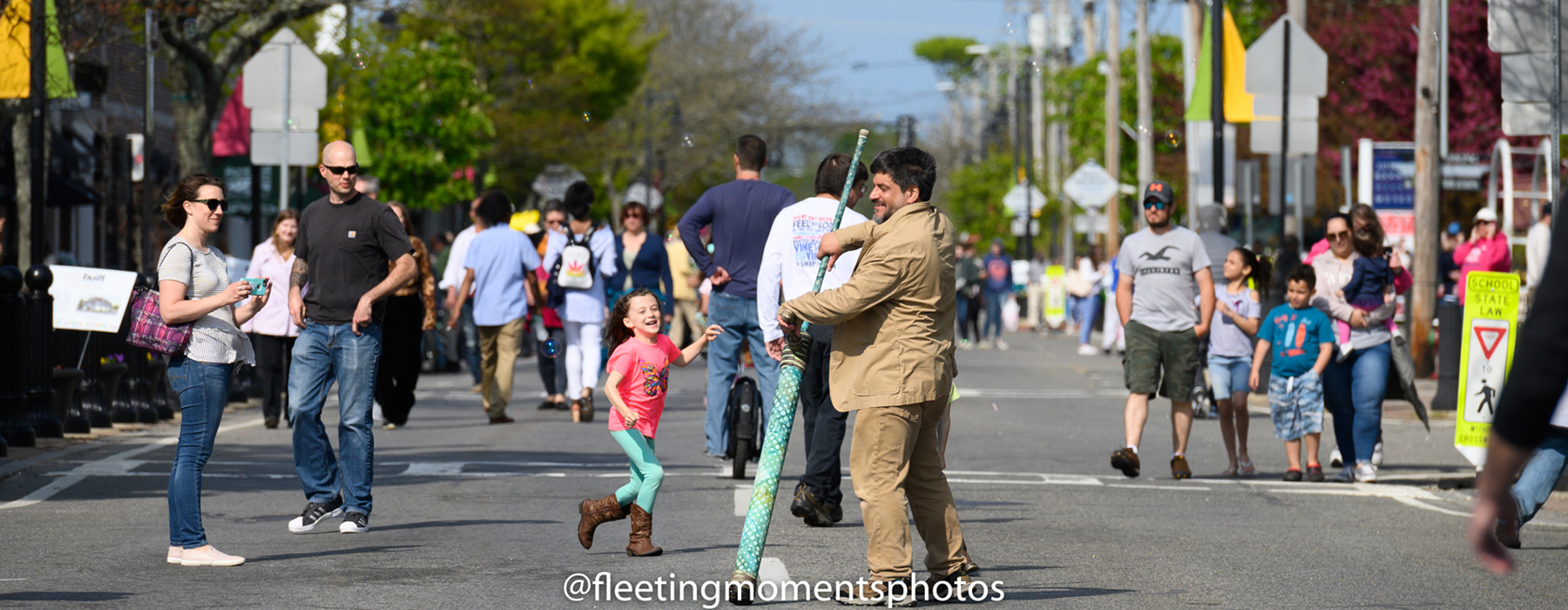 Picture from a past Hyannis Open Streets Event