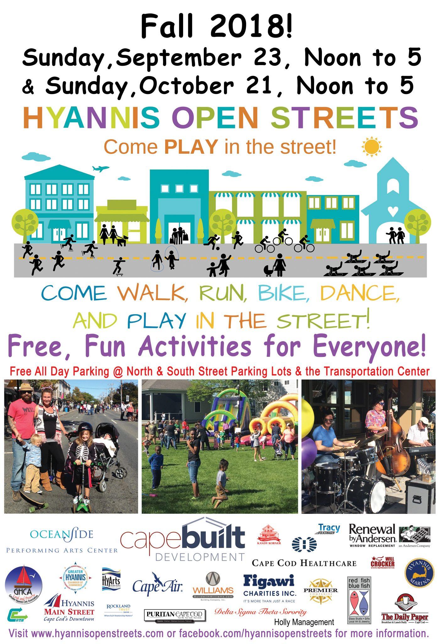 2018 Hyannis Open Streets Schedule